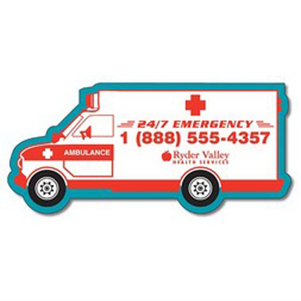 Custom Magnet - 5.25x2.42 Ambulance Shape - 20 mil