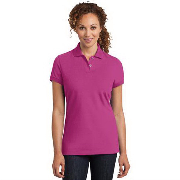 District Made (TM) Ladies' Stretch Pique Polo