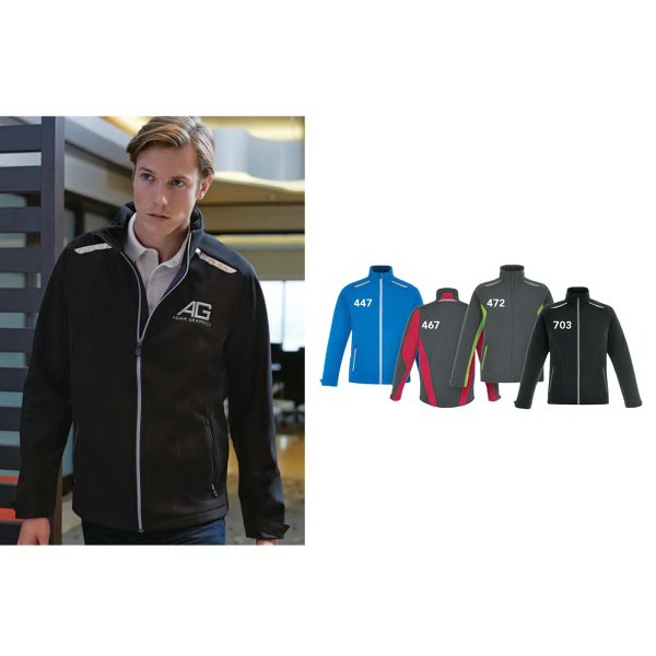 Personalized Excursion Soft Shell Jacket with Laser Stitch Accents