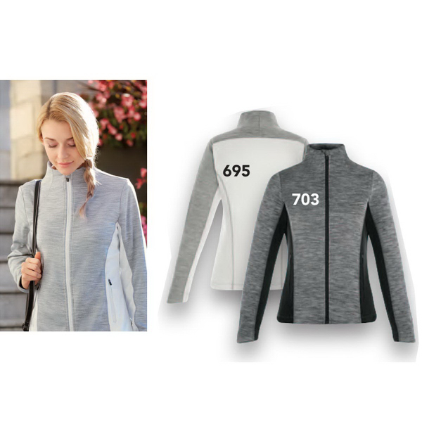 Personalized Shuffle Peformance Melange Interlock Jacket