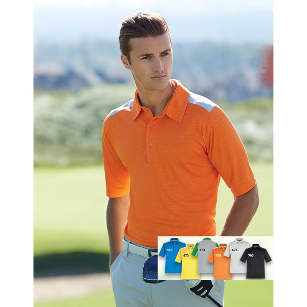 Imprinted Reflex UTK cool-logik (TM) Performance Embossed Print Polo