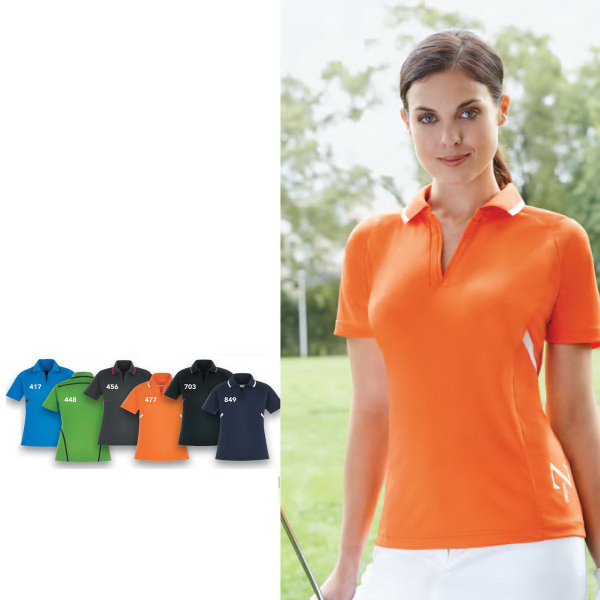 Printed Propel EPerformance (M) Interlock Polo w/Contrast Tape