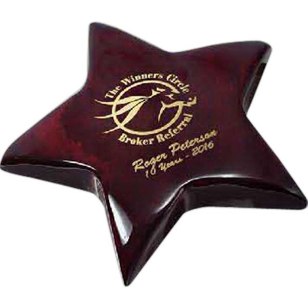 Custom Rosewood Piano Wood Star Paperweight
