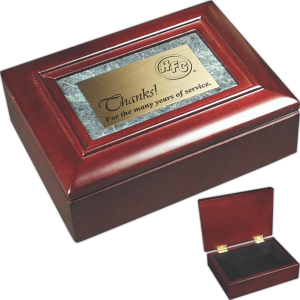 Promotional Rosewood Piano Wood and Marble Gift Box
