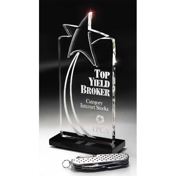 Promotional Deep Lasered Star Accent Small Tower