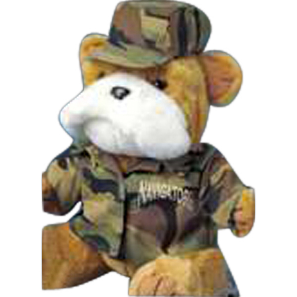 Custom Camouflage outfit for stuffed animal