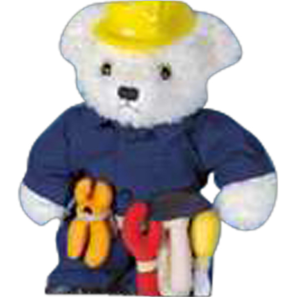 Imprinted Construction outfit for stuffed animal