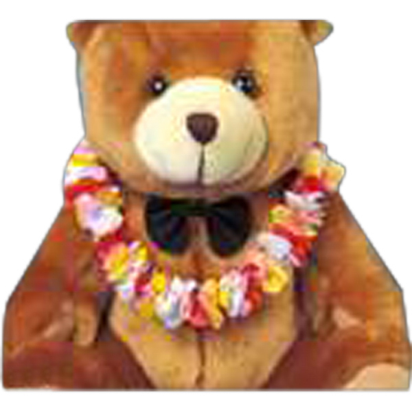Printed Hawaiian lei for stuffed animal