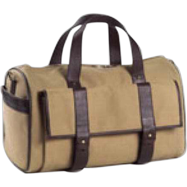 Imprinted Canvas pocket duffel bag