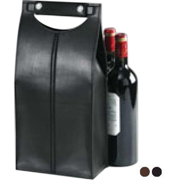 Imprinted Two bottle carrier