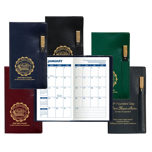 Promotional Executive Monthly Planner with Pen