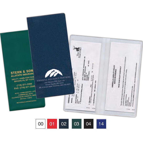 Imprinted Policy and Documents Holder