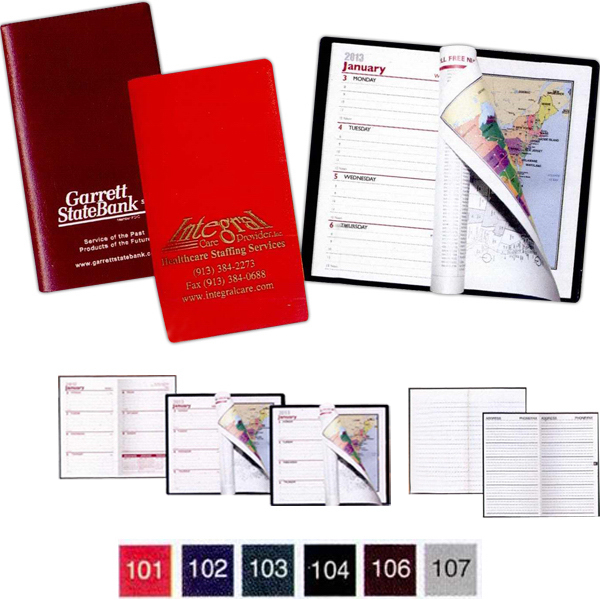 Imprinted Castillion Expanded Vinyl Planner Weekly