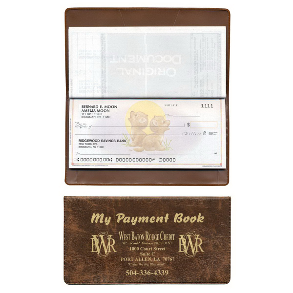 Printed Checkbook Cover