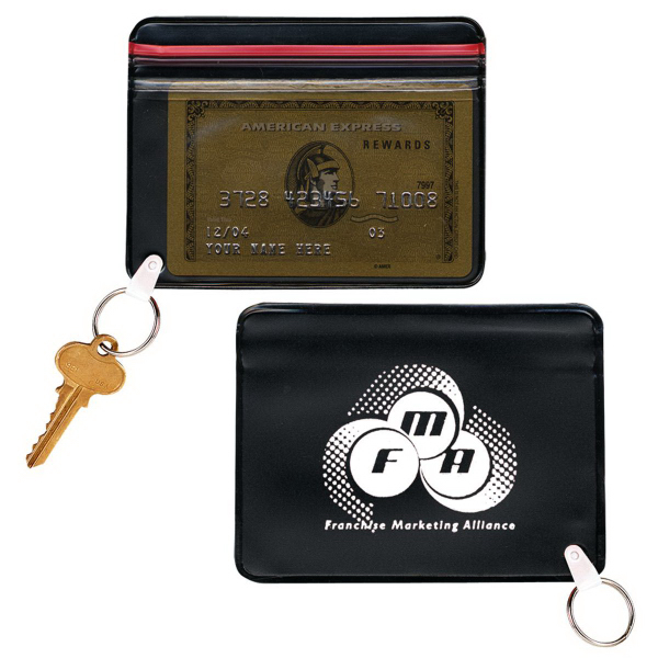 Printed Wallet with Key Ring
