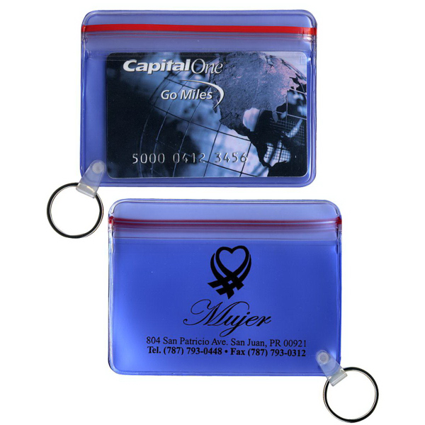 Printed Translucent Wallet with Key Ring