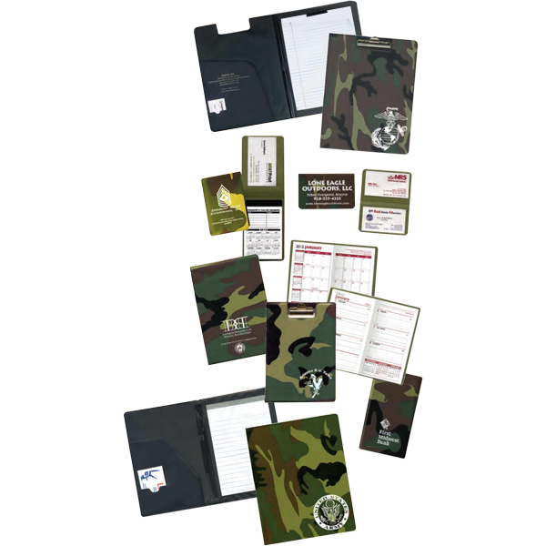 Promotional Camouflage Deluxe Clipboard