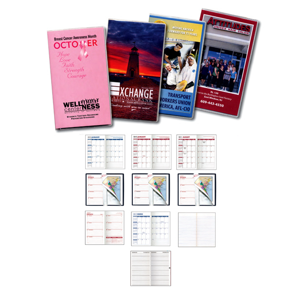 Imprinted Digital Weekly Planner with Map