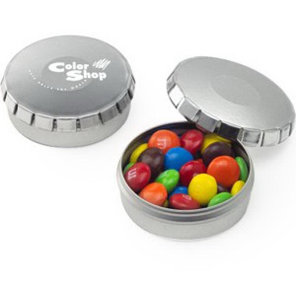 Promotional Push top Tin with Assorted Chocolate