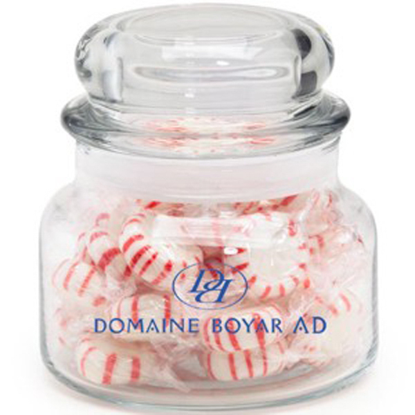Promotional Round Glass Jar / Hard Candy
