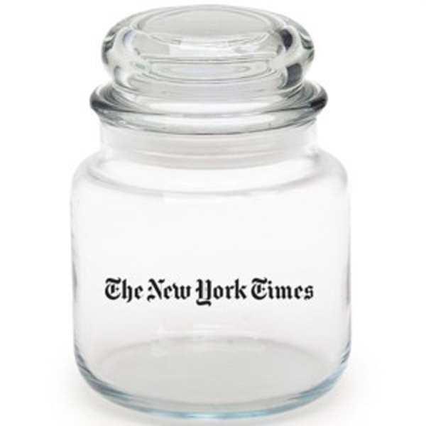 Personalized Empty Round Glass Jar