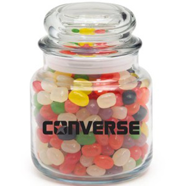 Customized Round Glass Jar / Jelly Beans Assorted