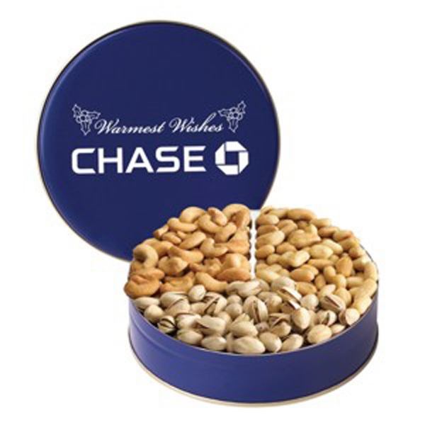 Imprinted 3 Way Nut Tin / Small