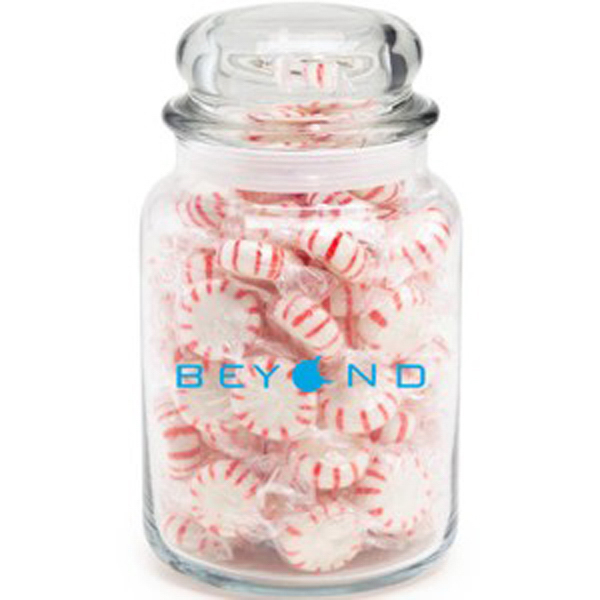 Customized Round Glass Jar / Hard Candy