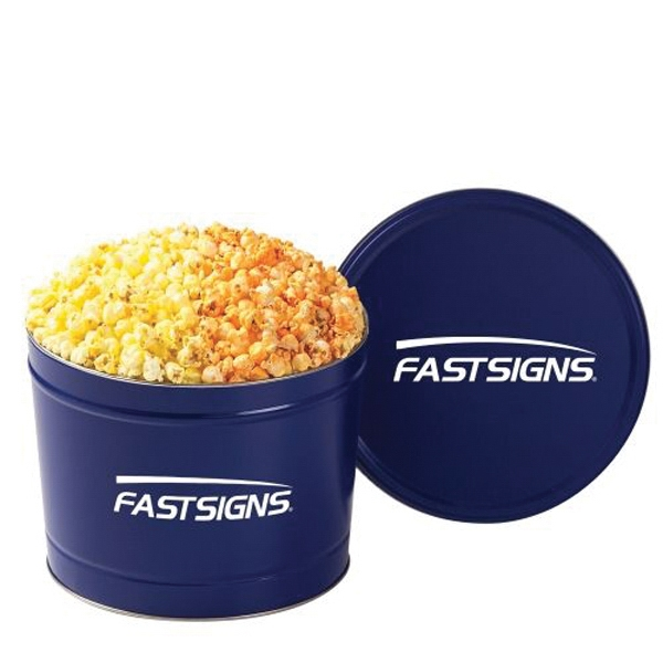 Personalized 2 Way Popcorn Tin /2 Gallon