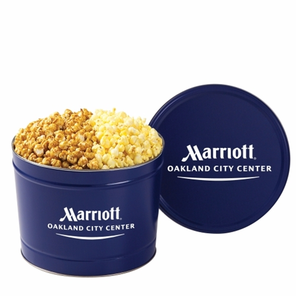 Imprinted 2 Way Popcorn Tin / 2 Gallon