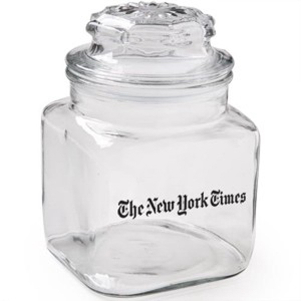Personalized Classic Glass Apothecary Jar / Empty