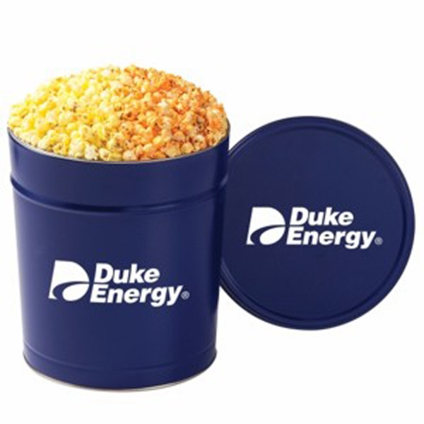 Customized 2 Way Popcorn Tin / 3.5 Gallon