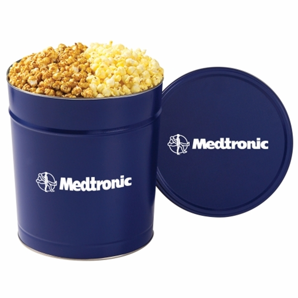 Custom 2 Way Popcorn Tin / 3.5 Gallon