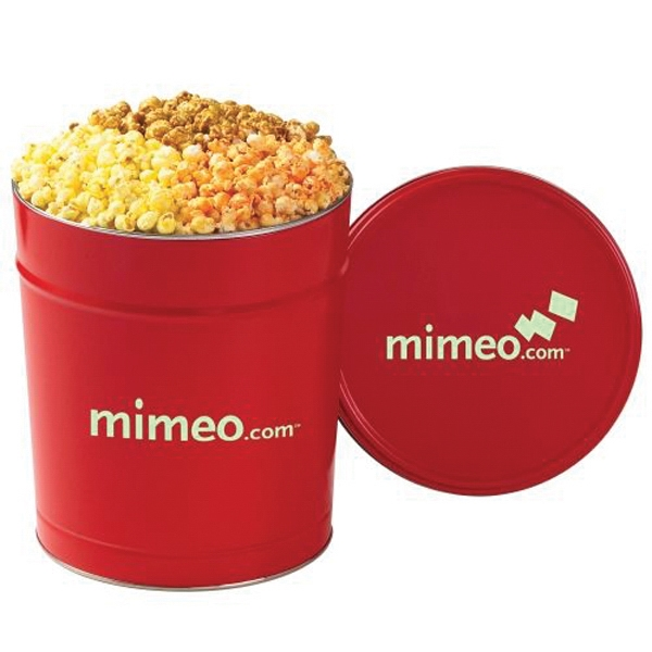 Printed 3 Way Popcorn Tin / 3.5 Gallon