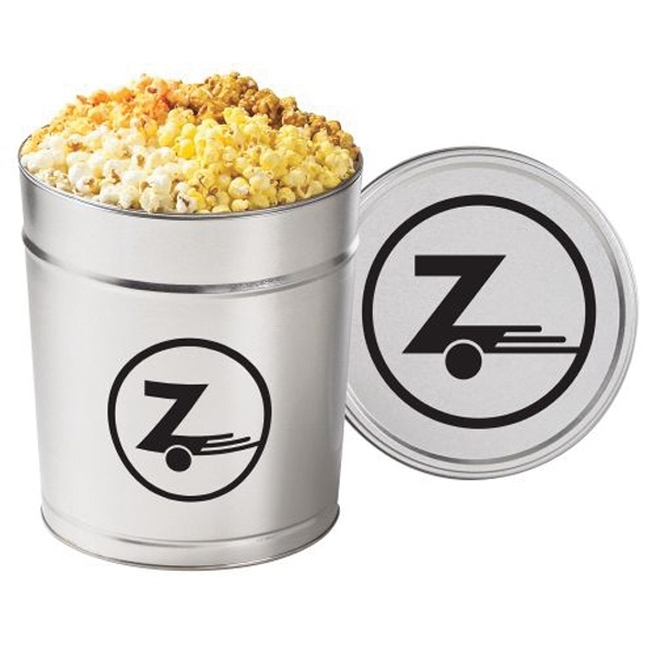 Printed 4 Way Popcorn Tin / 3.5 Gallon