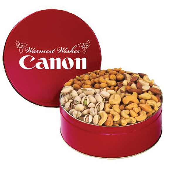Printed 4 Way Nut Tin / Extra Large