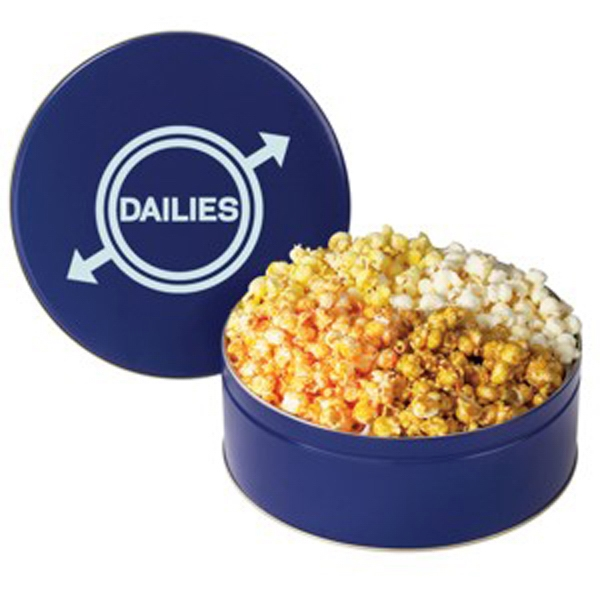 Personalized 4 Way Popcorn Tin