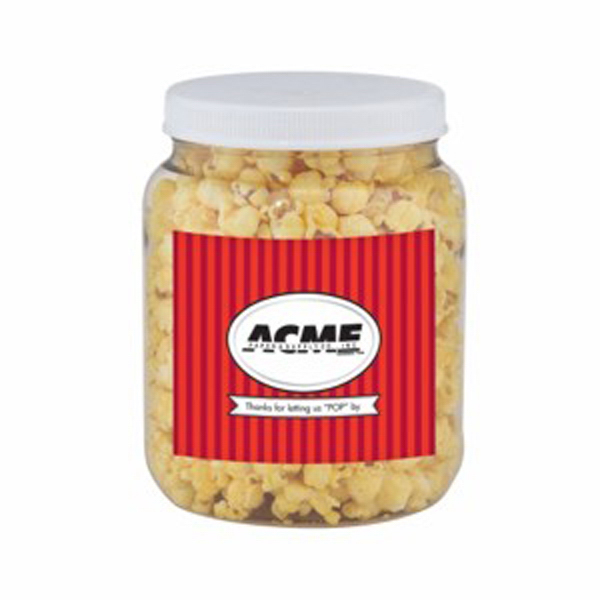 Personalized Round Container / Butter Popcorn