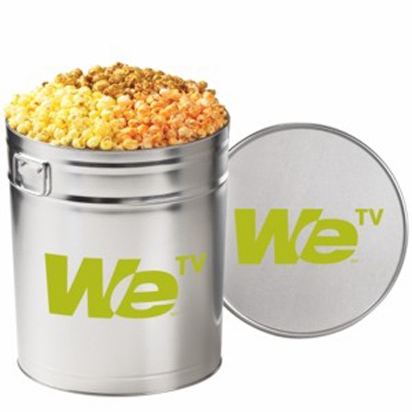 Personalized 3 Way Popcorn Tin / 6.5 Gallon