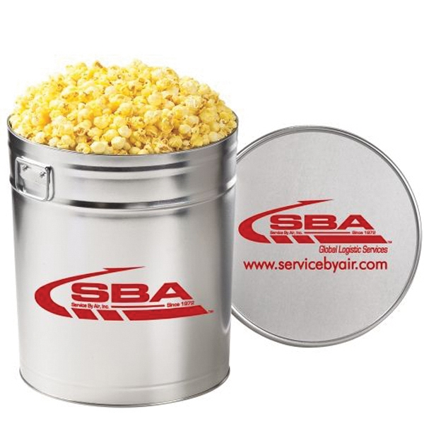 Promotional Classic Popcorn Tin / 6.5 Gallon