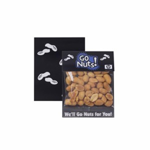 Promotional Small Billboard Header Bag with Dry Roasted Peanuts