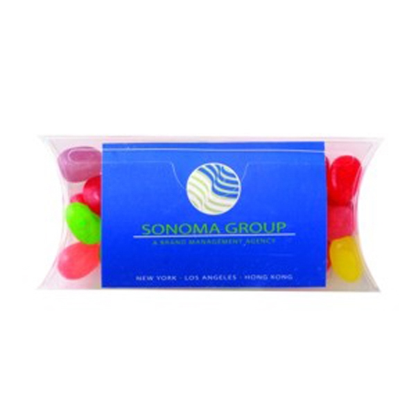 Printed Pillow Case Container with Business Card Slot / Jelly Beans