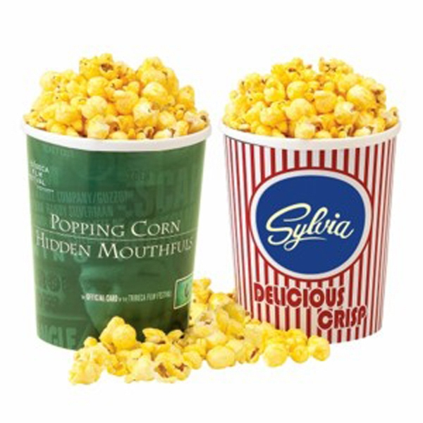 Printed Movie Theatre Tub / Butter Popcorn With Lid
