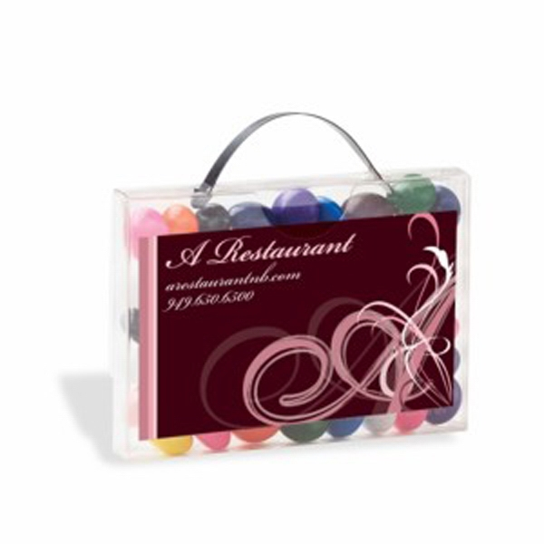 Personalized Briefcase Candy Container with Business Card Slot