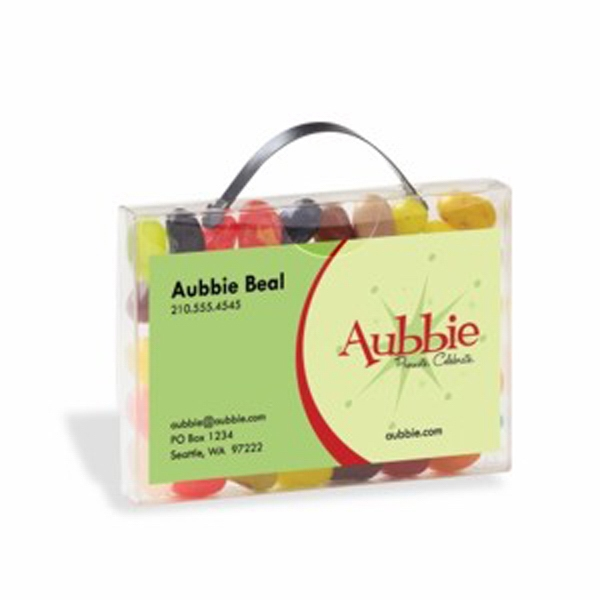 Imprinted Briefcase Candy Container with Business Card Slot