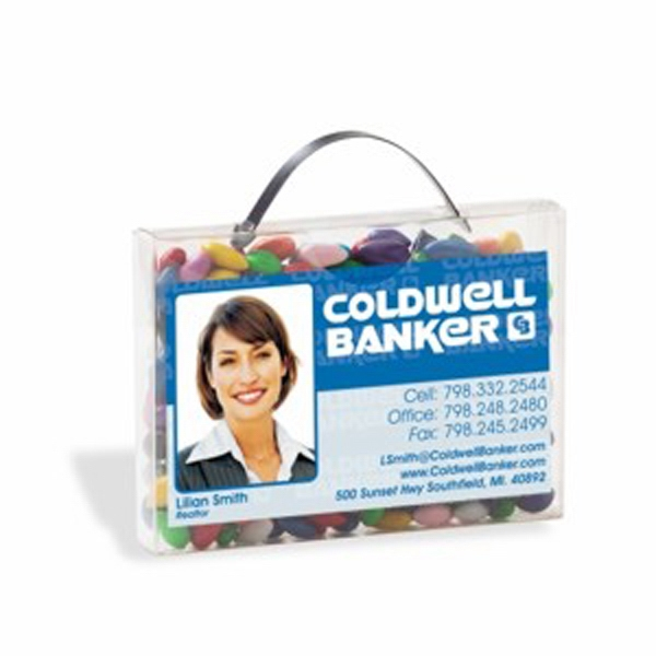 Customized Briefcase Candy Container with Business Card Slot