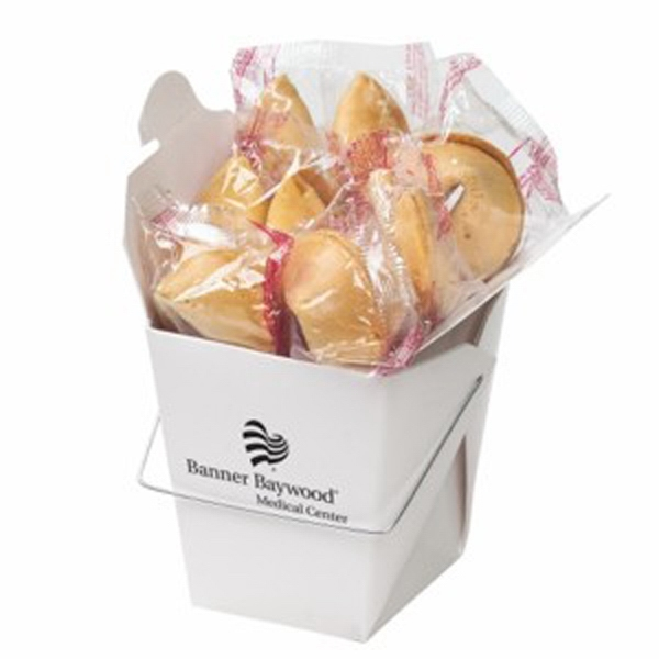 Customized Fortune Cookies in Carry Out Container