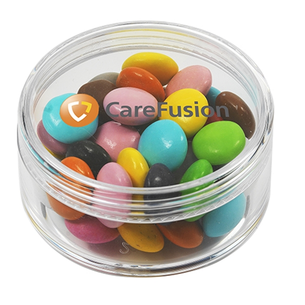 Printed Round Container / Chocolate Buttons