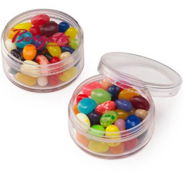 Promotional Round Container / Gourmet Jelly Beans