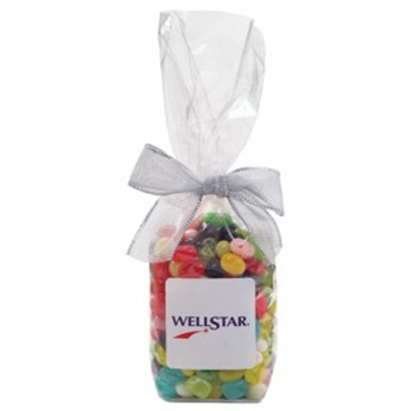 Customized Elegant Mug Stuffer Bag / Gourmet Jelly Beans 9.5 oz